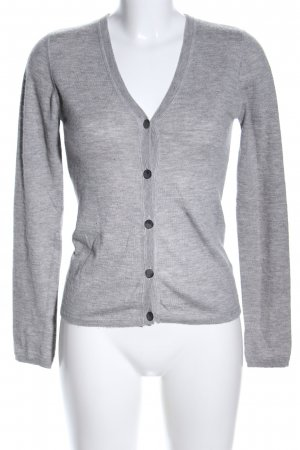 Amor & Psyche Cardigan light grey flecked casual look