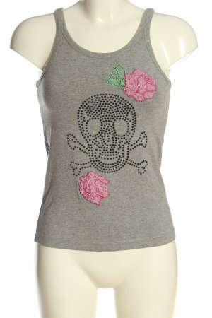 Amor & Psyche Tank Top light grey-pink flecked casual look