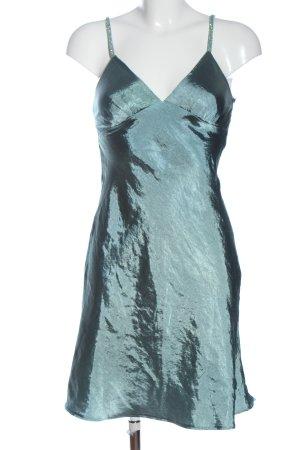 Amor & Psyche Pinafore dress green wet-look