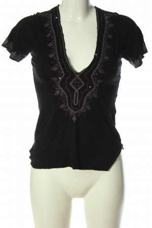 Amor & Psyche V-Neck Shirt black casual look