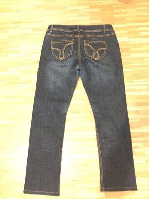 ATT Jeans Jeansy z prostymi nogawkami ciemnoniebieski Bawełna