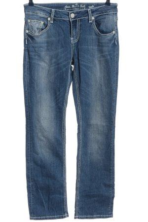 Amor, Trust & Truth Jeans coupe-droite bleu style décontracté