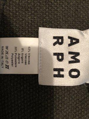 Amorph Short Sleeve Sweater olive green