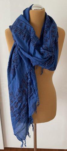 Amorph Bufanda de flecos azul-púrpura