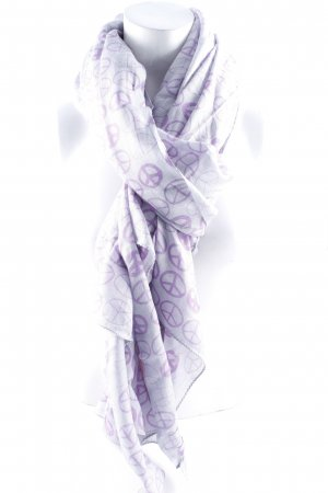 Amorph Summer Scarf grey-purple casual look