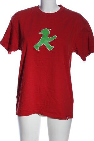 Ampelmann Shirt met print rood-groen prints met een thema casual uitstraling