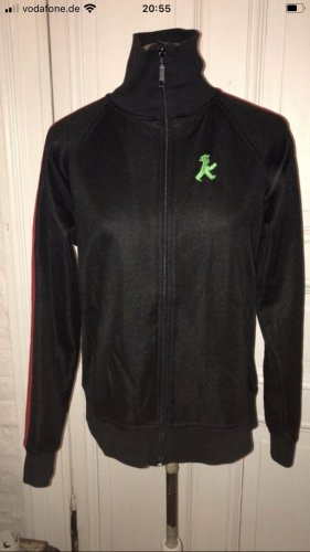 Ampelmann Retro Trainingsjacke für Damen in schwarz