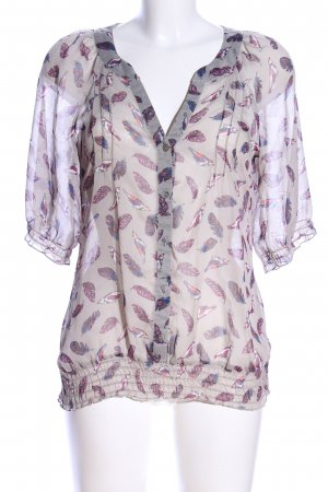Amphora Transparent Blouse light grey-lilac allover print casual look