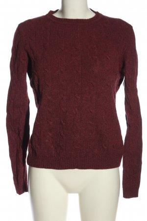 Amphora Cable Sweater red cable stitch casual look