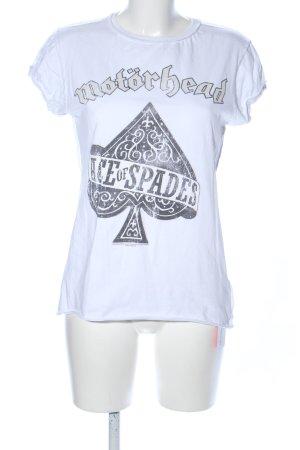 Amplified T-shirt wit-zwart prints met een thema casual uitstraling