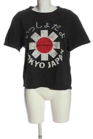 Amplified T-shirt nero caratteri stampati stile casual