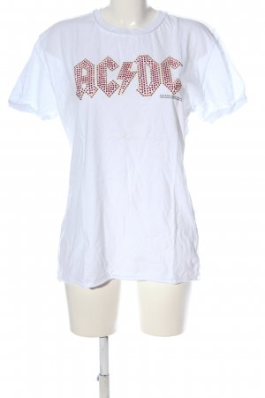 Amplified T-shirt bianco stile casual