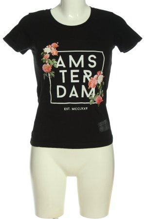 Amsterdam designS T-Shirt flower pattern casual look