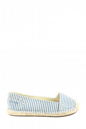 Amy Gee Espadrille Sandals blue-white allover print casual look