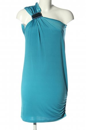 Amy Gee One Shoulder Dress blue casual look
