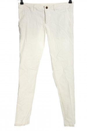 Amy Gee Jeans skinny blanc style décontracté