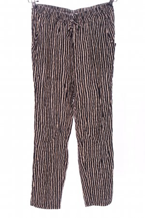 Amy & Ivy Baggy Pants cream-black allover print casual look