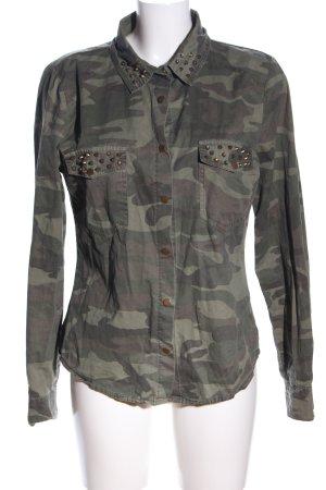 Amy & Ivy Langarmhemd khaki Camouflagemuster Casual-Look