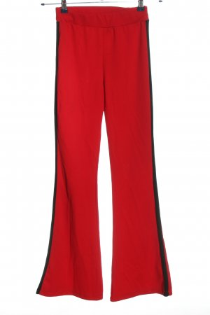 Amy & Ivy Jersey Pants red-black casual look
