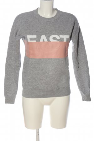 Amy & Ivy Sweat Shirt printed lettering casual look