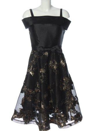 Amy Lynn A-lijn jurk zwart bloemenprint elegant