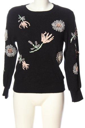 Amy Lynn Kraagloze sweater zwart casual uitstraling