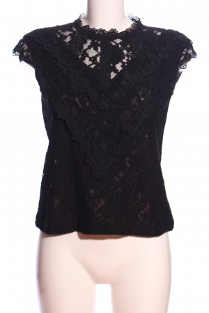 Amy Lynn Lace Blouse black casual look