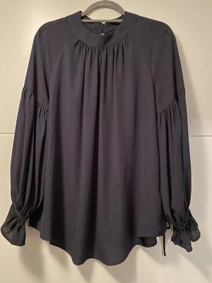 Amy Vermont Blusa de manga larga negro-azul oscuro