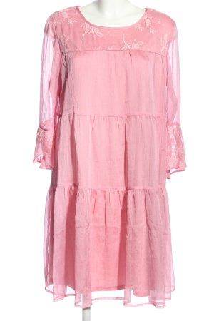 Amy Vermont Abito blusa rosa motivo floreale stile casual