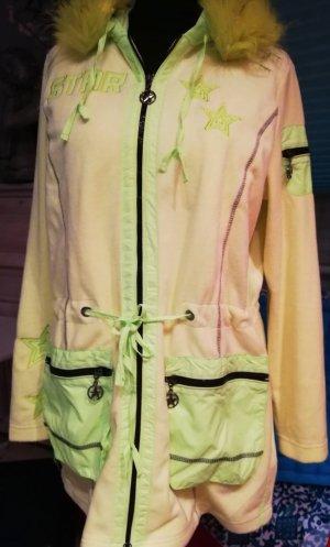 Amy Vermont Długa kurtka żółty neonowy