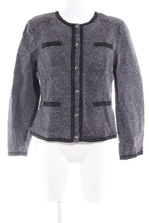 Amy Vermont Denim Jacket dark grey-black embellished pattern extravagant style