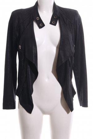 Amy Vermont Faux Leather Jacket black casual look