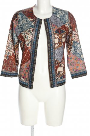 Amy Vermont Korte blazer abstract patroon casual uitstraling