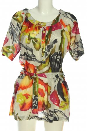 Amy Vermont Kurzarm-Bluse abstraktes Muster Elegant