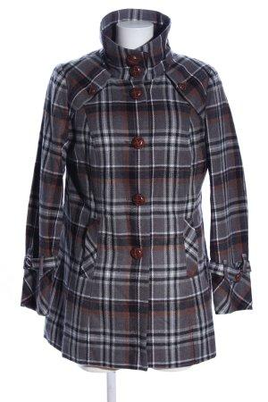 Amy Vermont Krótki płaszcz Wzór w kratkę W stylu casual