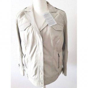 Amy Vermont Leather Jacket light grey leather
