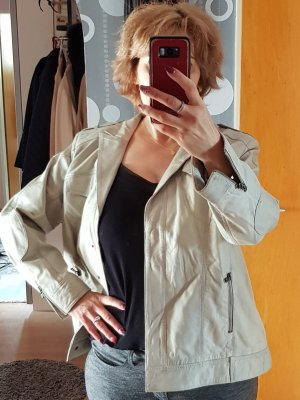 Amy Vermont Leather Jacket light grey