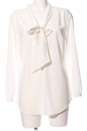 Amy Vermont Langarm-Bluse weiß Business-Look
