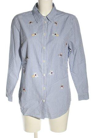 Amy Vermont Koszula z długim rękawem niebieski Wzór w paski W stylu casual