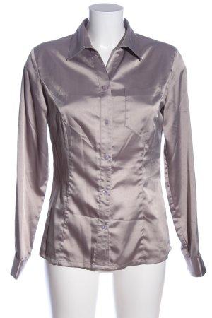 Amy Vermont Chemise à manches longues gris clair style décontracté