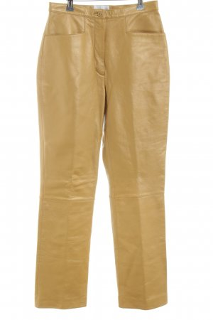 Amy Vermont Leather Trousers light orange casual look