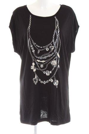 Amy Vermont Koszulka z długim rękawem czarny Nadruk z motywem W stylu casual