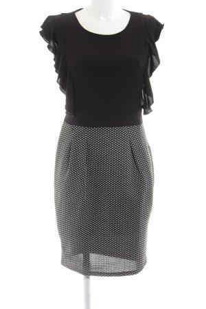 Amy Vermont Minikleid schwarz-hellgrau Punktemuster Business-Look