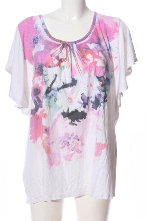 Amy Vermont Koszulka z nadrukiem Wzór w kwiaty W stylu casual