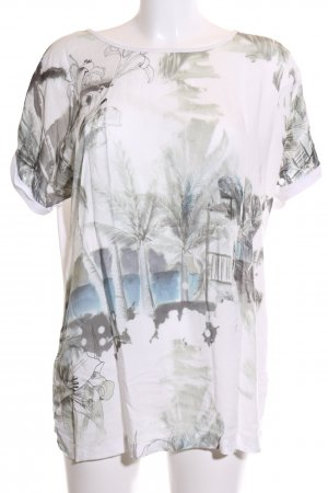 Amy Vermont Print-Shirt wollweiß-khaki abstraktes Muster Casual-Look