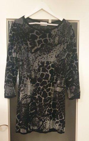 Amy Vermont Długi sweter czarny-srebrny