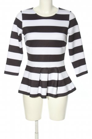 Amy Vermont Slip-over Blouse black-white striped pattern casual look