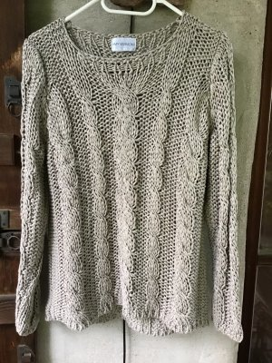 Amy Vermont Coarse Knitted Sweater sand brown
