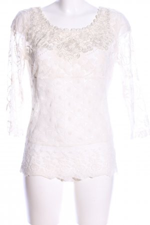 Amy Vermont Lace Blouse natural white casual look