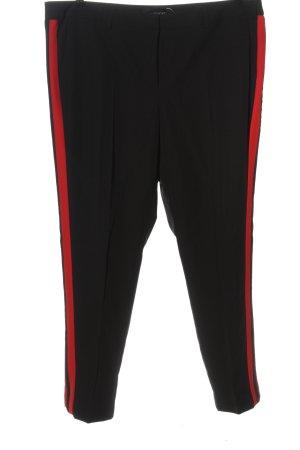 Amy Vermont Pantalone jersey nero-rosso stile casual